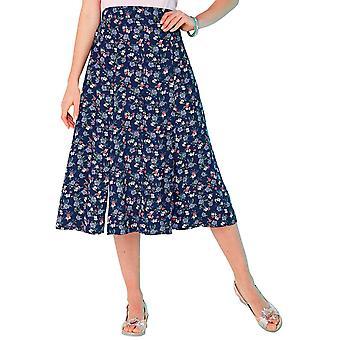 Chums Viscose Print Split Detail Skirt