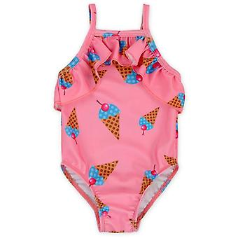 Swimsuit factory direct s  children's floral strap one-piece  girls big and small children outdoor swimming