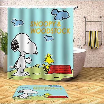Snoopy ja Woodstock suihku verho