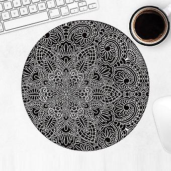هدية Mousepad : ماندالا الأسود الحديث