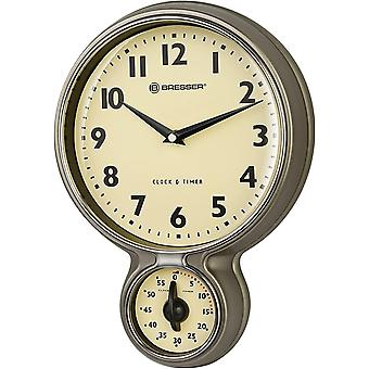 Gerui MyTime Stainless Steel Retro Kitchen Clock Timer