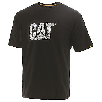 Cat Mens Logotipo personalizado Camisa de Trabalho de Algodão Respirável