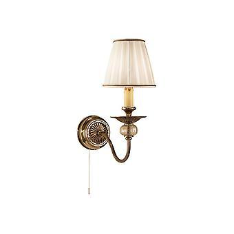 Klassisk ljusvägg ljus antik mässing, 1x E14