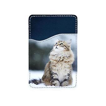 Sibirisk Katt Självhäftande Korthållare För Mobiltelefon