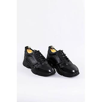 Leather black ugly shoes | wessi