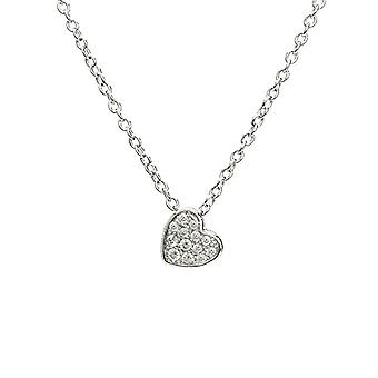 Eye Candy ECJ-NL0070 Women's necklace with circular pendant, enriched with 13 white zircons and made of Sterling Ref silver. 4045425027726