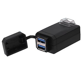 12-24v Universal Motorrad QC 3.0 Dual USB Autoladegerät mit Schalter