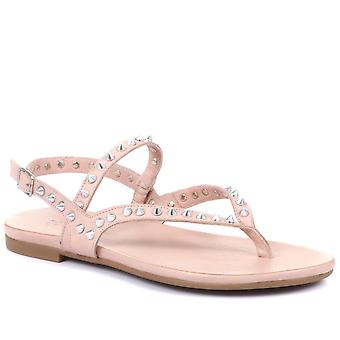 Inuovo Womens Alaia Leather Toe Post Sandals