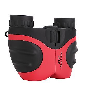 Czerwona kompaktowa lornetka odporna na wstrząsy dla dzieci x4261