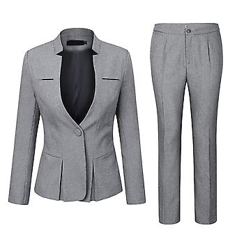 Allthemen Ladies Business Slim Fit Pleated Waisted Office Ladies Two-Piece Suit