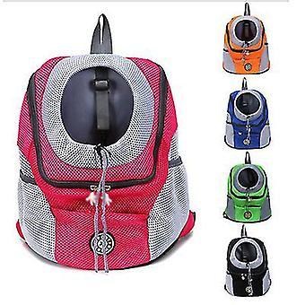 L 41 * 53 * 25cm umăr roșu portabil câine de călătorie rucsac pentru animale de companie az6465