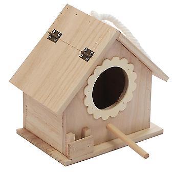 New Wood Bird Nest Parrot Breeding Birdhouse Wooden Bird Nest ES2154