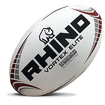 Rhino Vortex Elite Replica Rugby Ball Valkoinen Midi (koko 2)