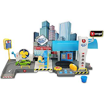 1:43 Street Fire Car Wash Garage Playset