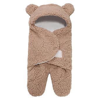 Detský plyšový spací vak, novorodenec mäkký spací zábal