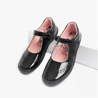 Start-Rite Spirit Girls Leather Mary Jane School Shoes Patent Black