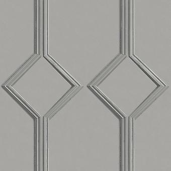 Azzurra Panel Grey Wallpaper