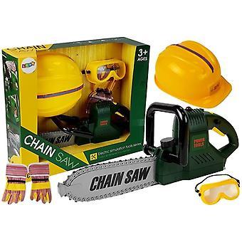 Leksaks motorsåg + Utrustning – Verktyg för barn