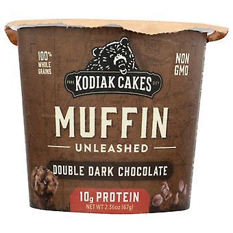 Kodiak Muffin Min Dbl Drk Choc, Case of 12 X 2.36 Oz