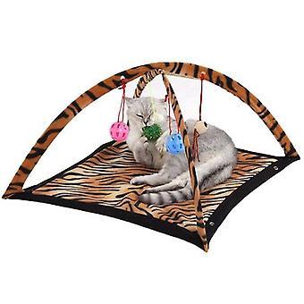 Kissa leikkisä vuode liikunta peli teltta cathouse valmistajat palapeli hauska kissa leluja