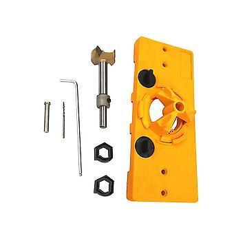 7kpl sarana poranterä asetettu tarkasti sijoitettu sarana isku puuntyöstöön (keltainen 35mm)