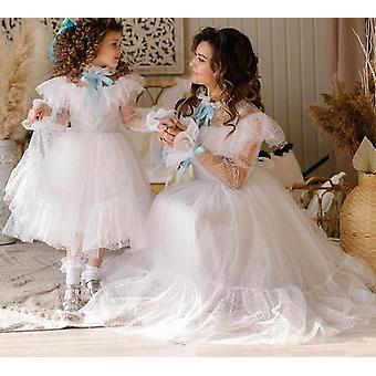 Fille à manches longues Robe de fête de mariage