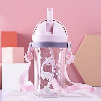 250/350ml Baby Feeding Cup with Straw Children Learn Feeding Drinking Bottle Kids Training Cup with Straw