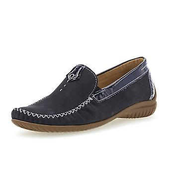 Gabor California Dames Wide Fit Loafer In Night Blue