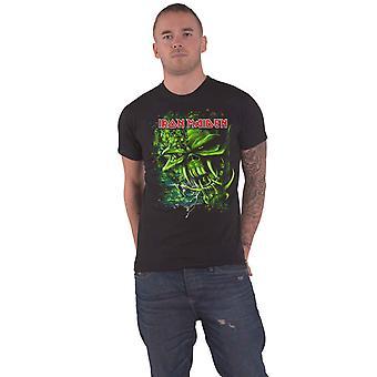 Iron Maiden T Shirt Final Frontier Green Band Logo new Official Mens Black