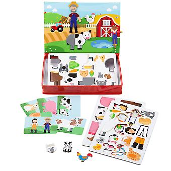 Bigjigs Toys Mag-Play Meadow Storytelling Board Fridge Magnets Magnetic
