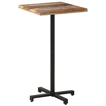 "vidaXL ביסטרו שולחן מרובע 60x60x110 ס""מ עץ ממוחזר מוצק"