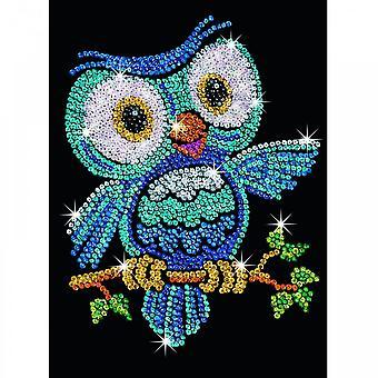 Sequin Art Sequin Ozzy Owl Junior