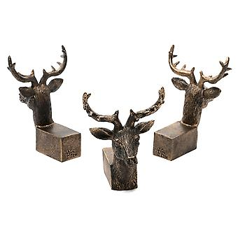 Potty Feet Decorative Stag Themed Plant Pot Feet - Bronze Color - Set of 3