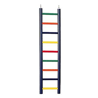 """Prevue Carpenter Creations Hardwood Bird Ladder Assorted Colors - 9 Rung 18"""" Long"""