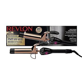 Revlon RVIR1159UK Salon Long Last Hair Curls Waves Styler 32mm Barrel - Rose Gold