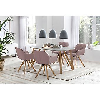 Tomasso's Pozzuoli Dining Table - Modern - Grey - Mdf - 0 cm x 0 cm x 0 cm