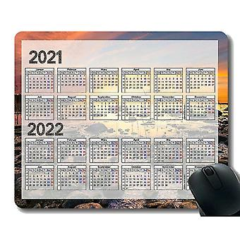 Keyboard mouse wrist rests 300x250x3 calendar for 2021 mouse pad anti-slip sunset ocean stone mouse pad with stitched edge