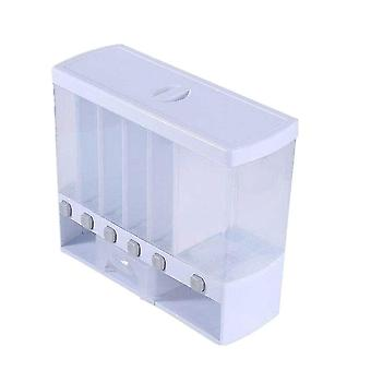 Storage tanks 6 grids dry food dispenser separate rice bucket cereal dispenser moisture proof automatic racks
