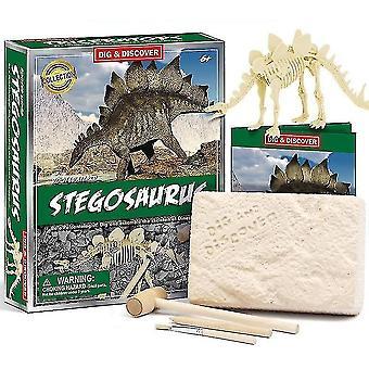 Science exploration sets childrens 6+ educational diy dinosaur fossil archeological digging toys d7142