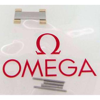 Watch bands yellow gold authentic omega watch bracelet end link  half bar  steel with 18ct yellow gold capped