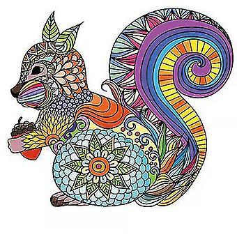 Värikäs orava palapeli pala peli lapsille ja aikuisille(A3)