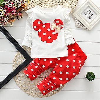 Kids Girls Mickey ruhák hosszú ujjú ing felső és nadrág nadrág szett