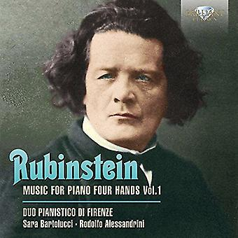 Duo Pianistico Di Firenze - Rubinstein: Musik för Piano 4 händer [CD] USA import