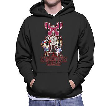 Mystery Stranger Things Gravity Falls Men's Hooded Sweatshirt