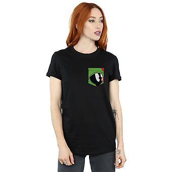 לוני טונס נשים ' s מרווין הפנים מאדים החבר כיס להתאים T-חולצת