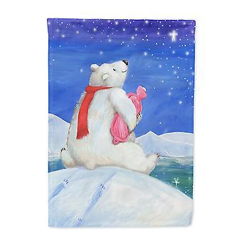 Polar Bear with Hot Water Bottle Flag Garden Size