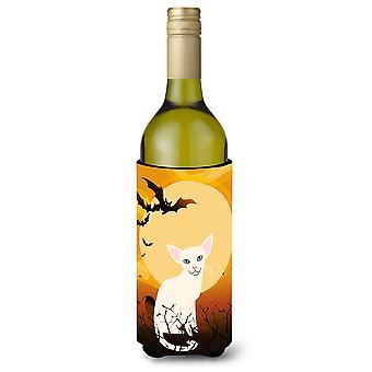 Halloween Foreign White Cat Wine Bottle Beverge Insulator Hugger
