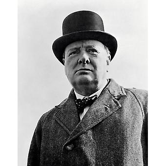Vintage World War II photo of Prime Minister Winston Churchill Poster Print by John ParrotStocktrek Images