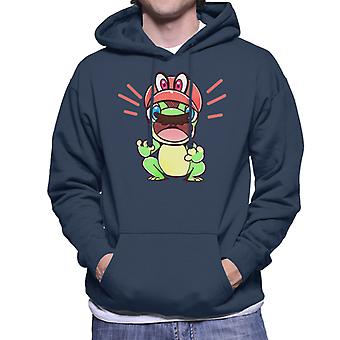 Super Mario Odyssey Cappy Frosch Herren Sweatshirt mit Kapuze