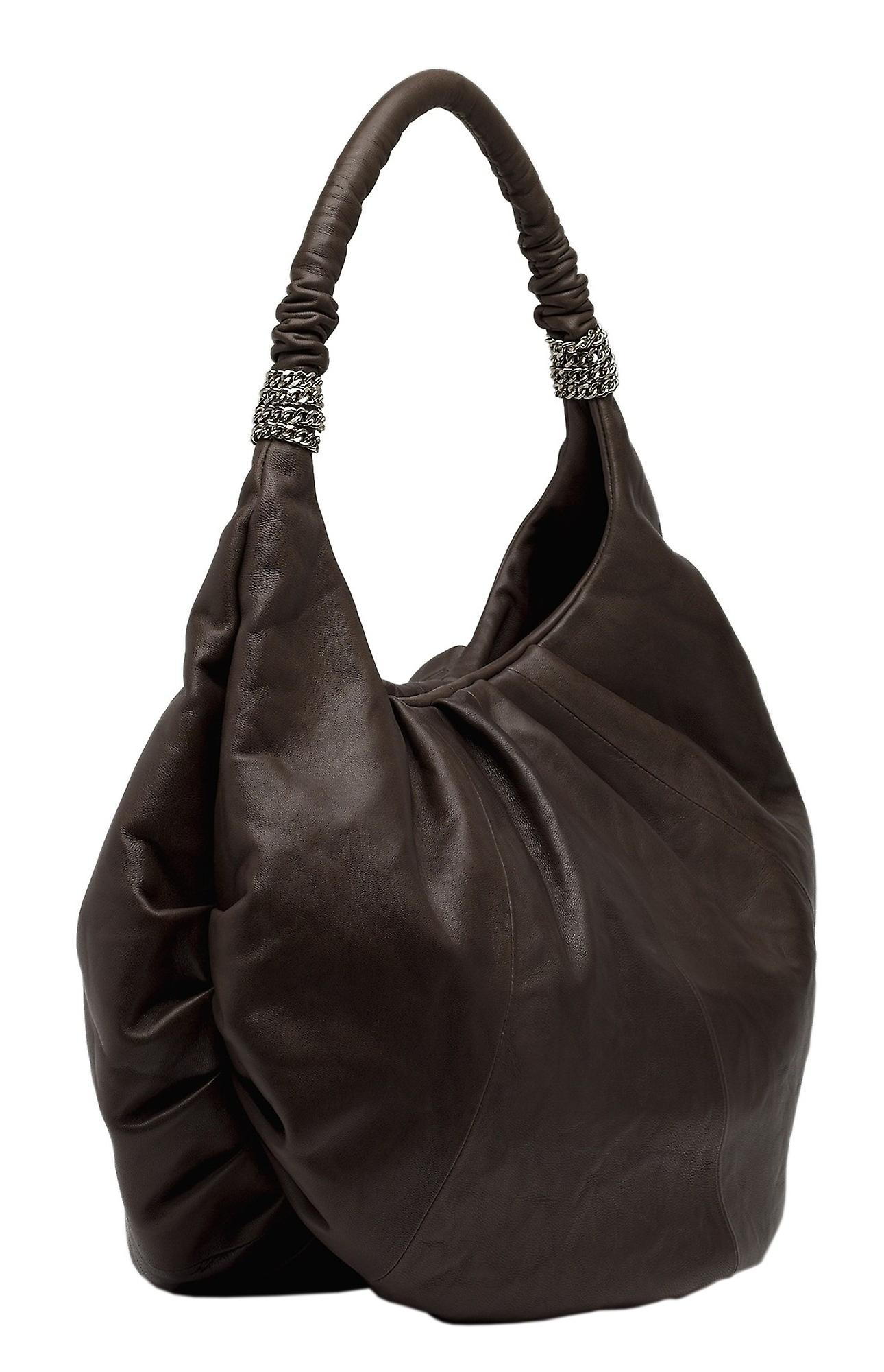 Burgmeister ladies shoulder bag T225-215A leather dark brown